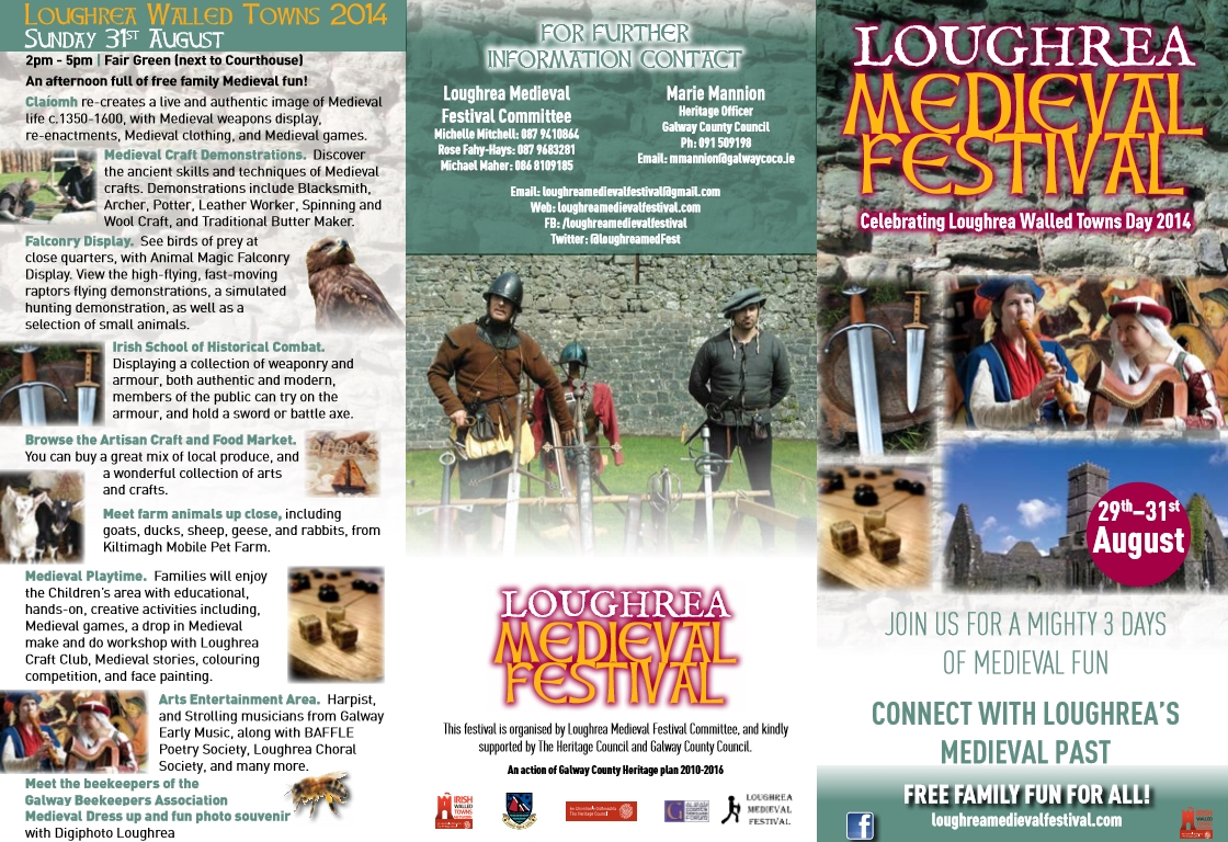 Loughrea Medieval Festival Program of Events