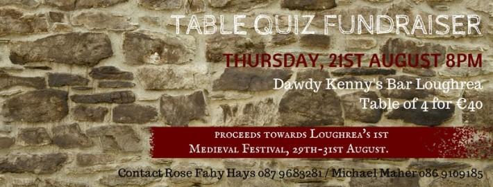 Loughrea Medieval Festival Table Quiz