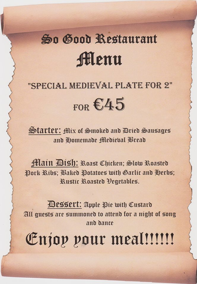 Medieval Plate for Two at So Good Restaurant