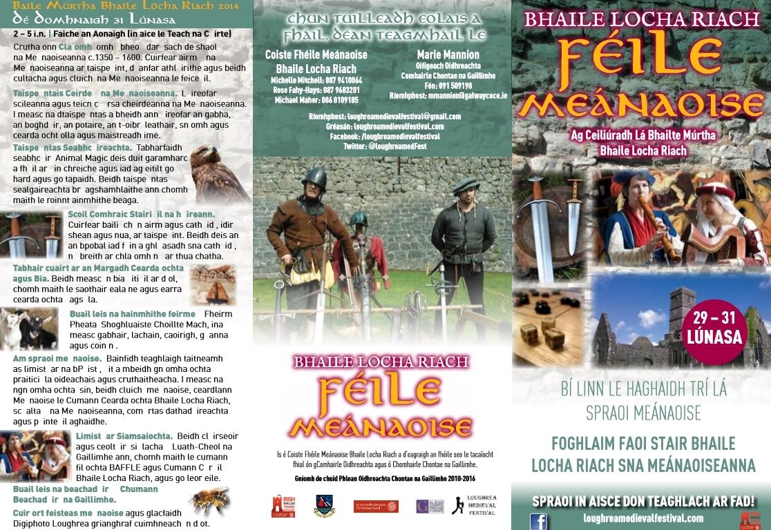 Bhaile locha Riach Feile Meanaois Loughrea Medieval Festival