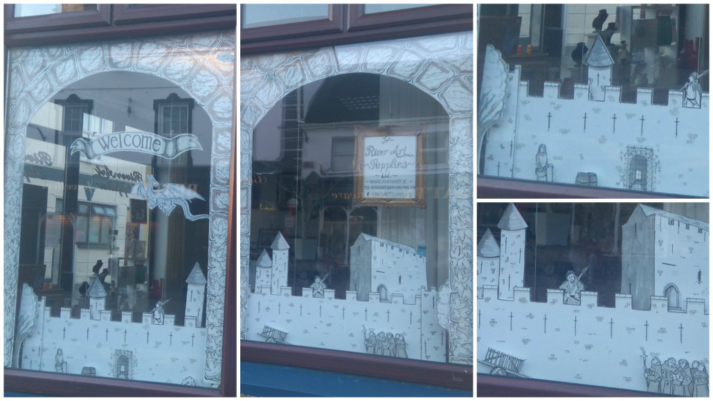 River Art Supplies Best Dressed Medieval Window Display Competition Loughrea