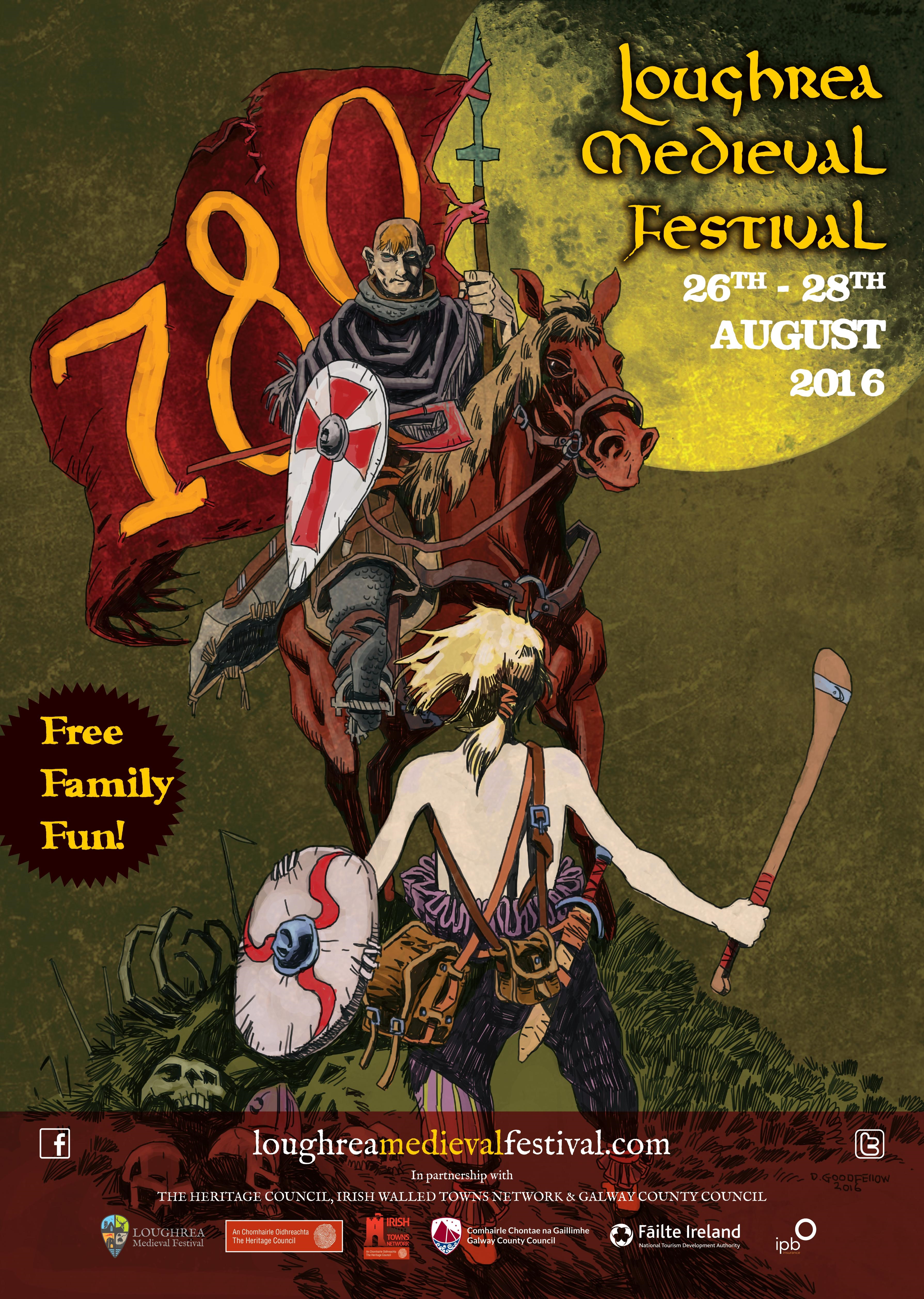 Poster design galway - Loughrea Medieval Festival 2016 Poster